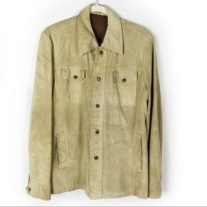 VTG Natelsons Jacket Suede Leather Snap Trucker